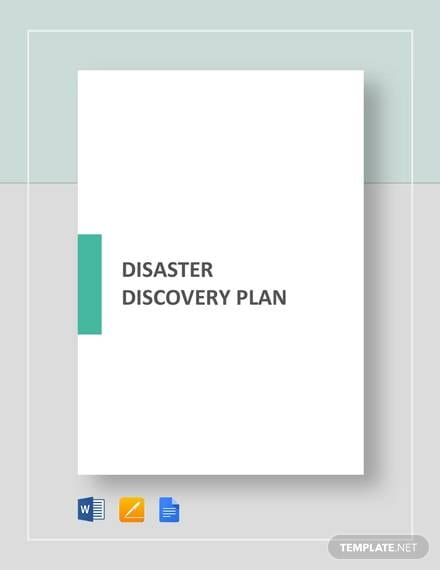 Disaster Recovery Plan Template1 For Recovery Plan