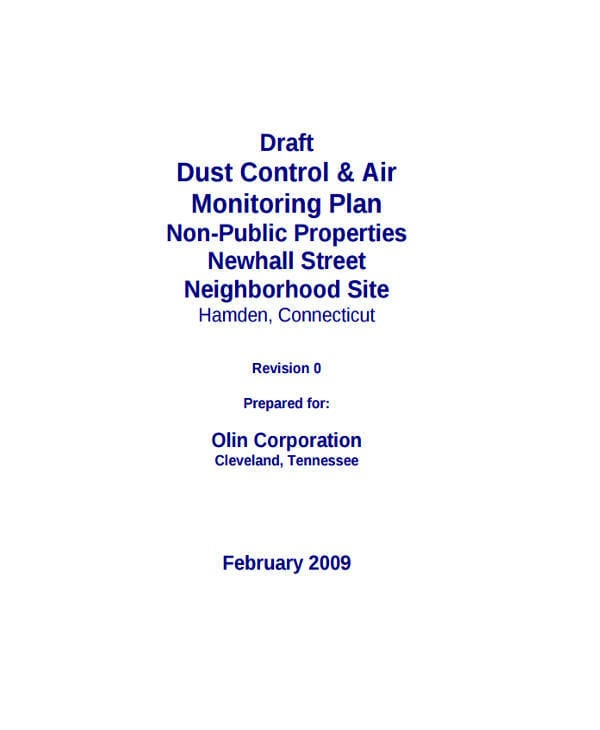 Dust Control For Control Plan