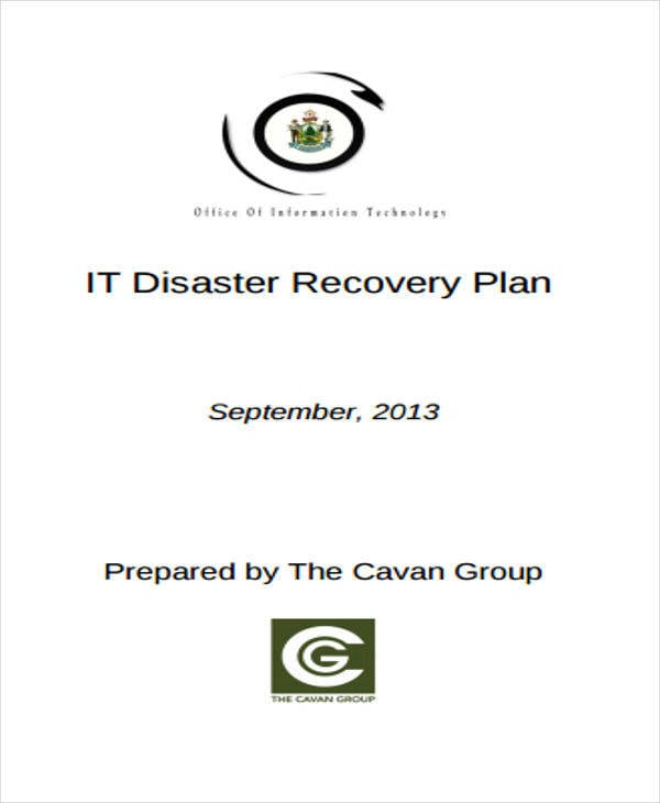 IT Disaster Recovery Plan1 For Recovery Plan