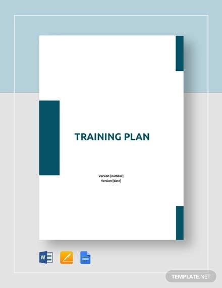 Training Plan Template1 for 9 Training Plan Examples In Word Pdf