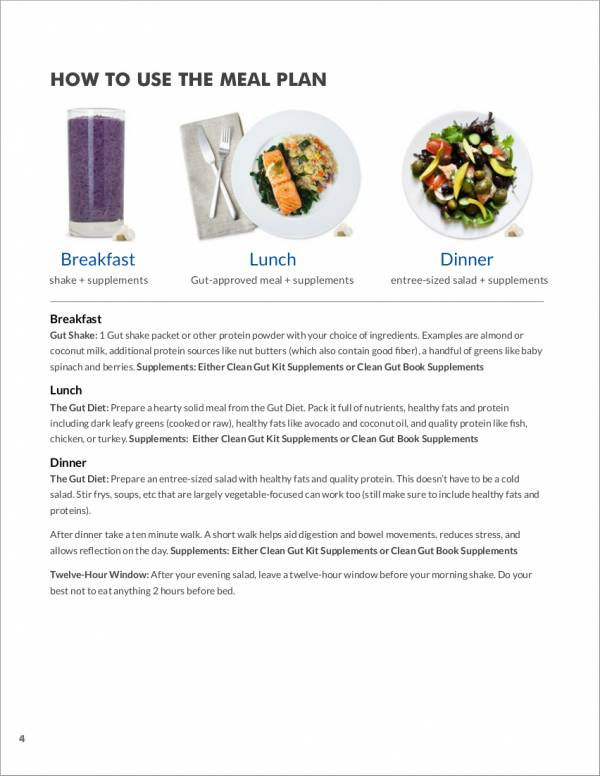 21 Day Meal Planner Sample For Printable Meal Planners