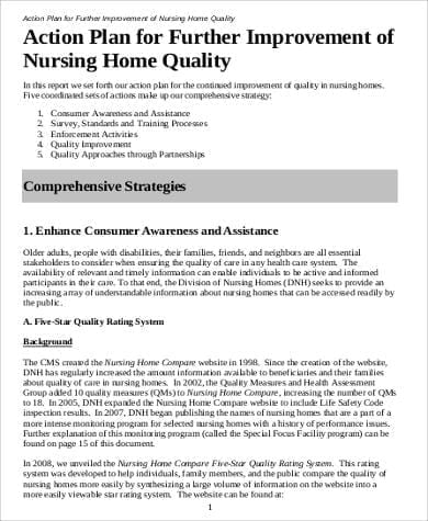 Action Plan For Nursing Home Quality For Free Action Plans