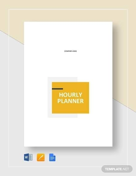 Printable Hourly Planner Template For Hourly Planner Templates