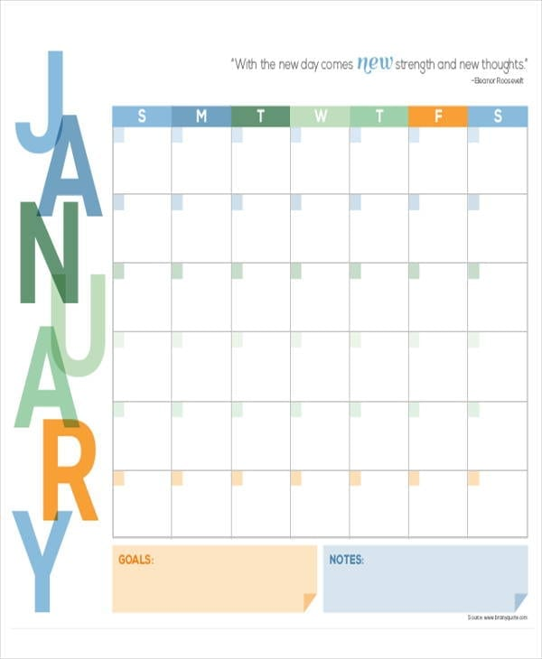 Printable Student Monthly Planner Example1 for Printable Monthly Planner