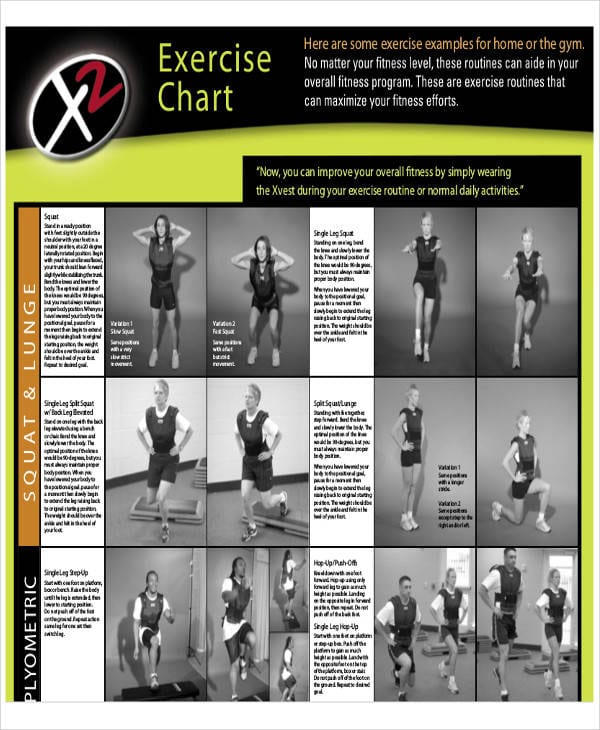 Exercise Goal Chart For Exercise Chart Templates For Exercise Chart Templates