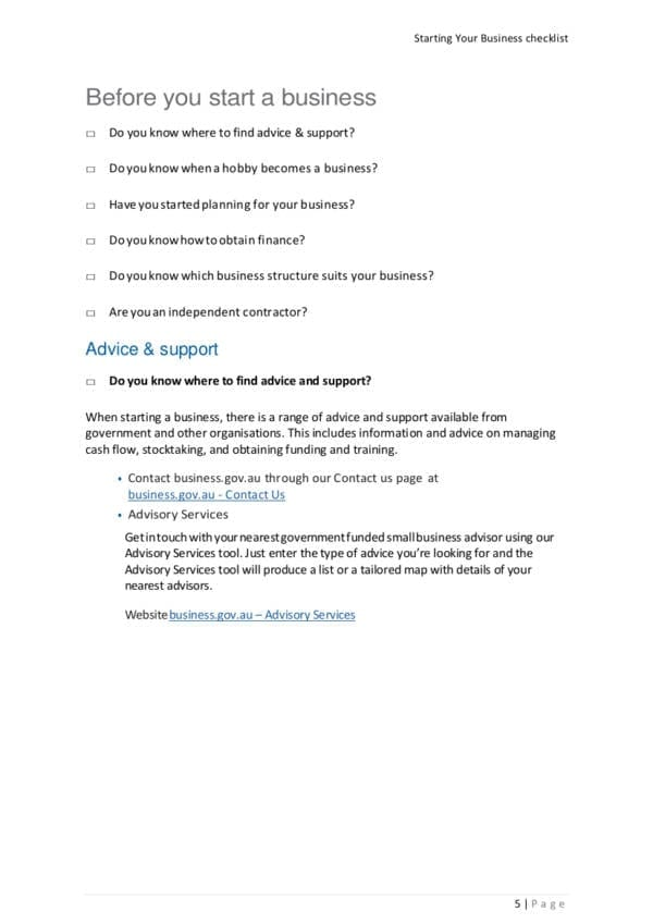 Starting your business checklist pdf for Business Startup Checklist