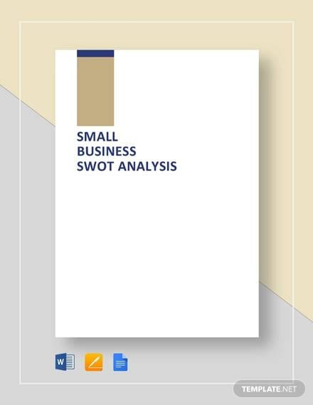 SWOT Analysis Template for Small Business Template for Business Swot Analysis