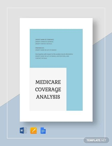Sample Medicare Coverage Analysis for Medicare Coverage Analysis Templates Pdf Word