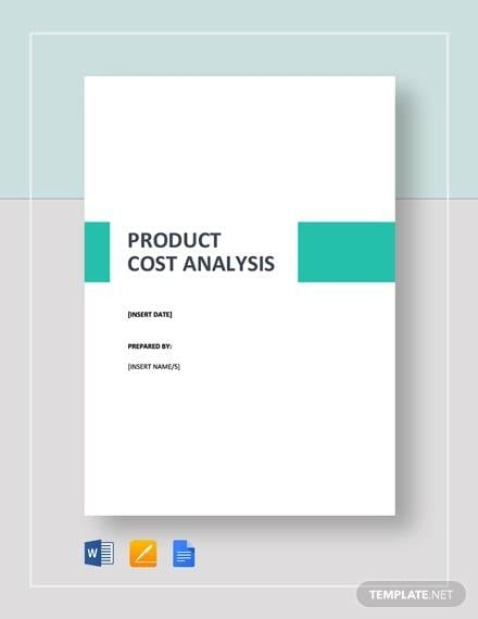 Simple Product Cost Analysis Template for Product Cost Analysis Template Pdf Excel