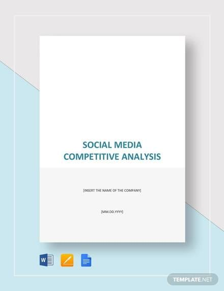 Social Media Competitive Analysis for Competitive Analysis Sample