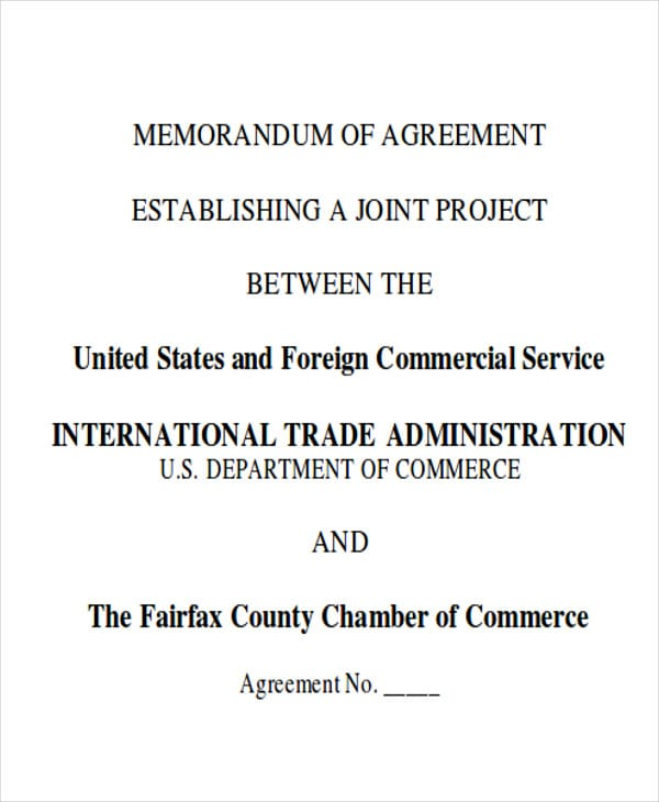 Generic Memorandum Of Agreement Free