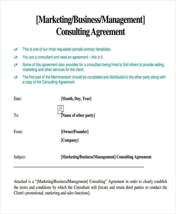 Marketing Consulting Agreement 1