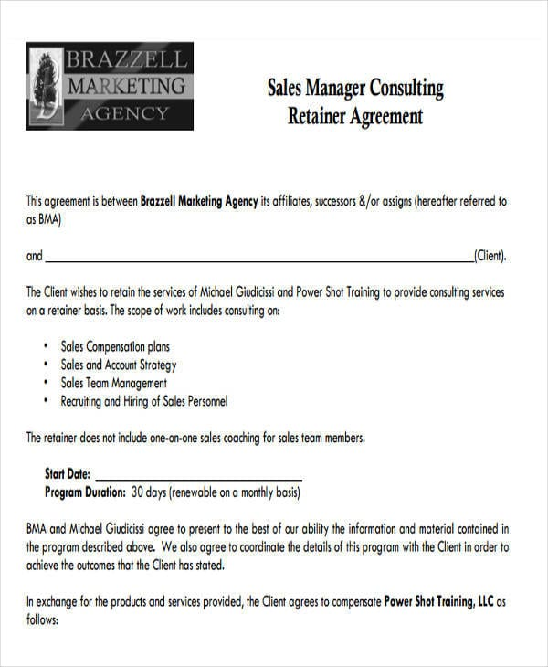 Marketing Consulting Retainer Agreement 1