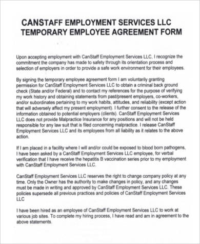 Temporary Employment Services Agreement