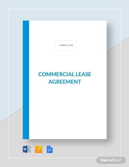 Commercial Lease Agreement Template For Commercial Leases Agreement