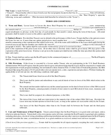 Commercial Lease Rental Agreement Format PDF For Rental Agreement Format Sample