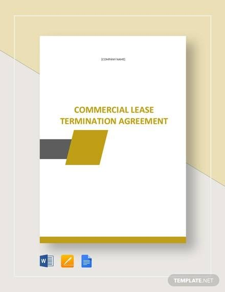 Commercial Lease Termination Agreement Template For Commercial Lease Agreement In Word