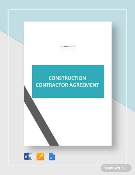 Construction Contractor Agreement Template For Construction Contractor Agreement