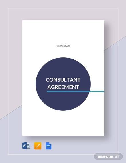 Consultant Agreement Template For Consulting Agreement Example