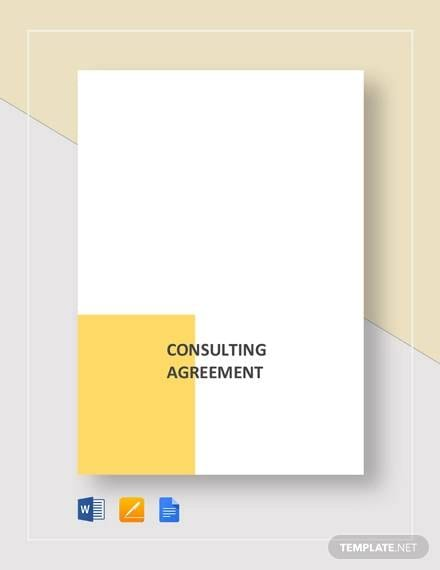Consulting Agreement Template For Consulting Agreement Example