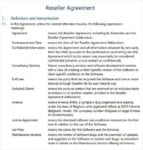 Printable Reseller Agreement For Reseller Agreement 1
