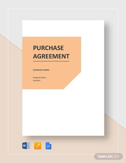 Purchase Agreement Template for Purchase Agreement Sample