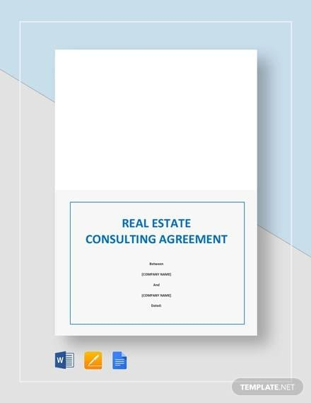 Real Estate Consulting Agreement for Consulting Agreement Sample In Word