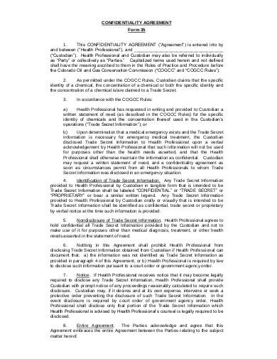 Sample Medical Confidentiality Agreement1 for Medical Confidentiality Agreement