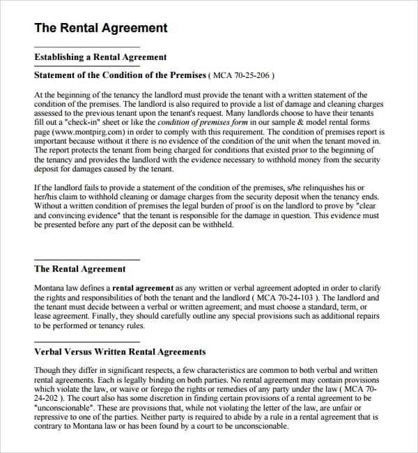 Small Business Rental Agreement for Business Rental Agreement