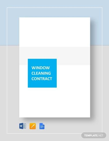 window cleaning for Cleaning Contract Agreement