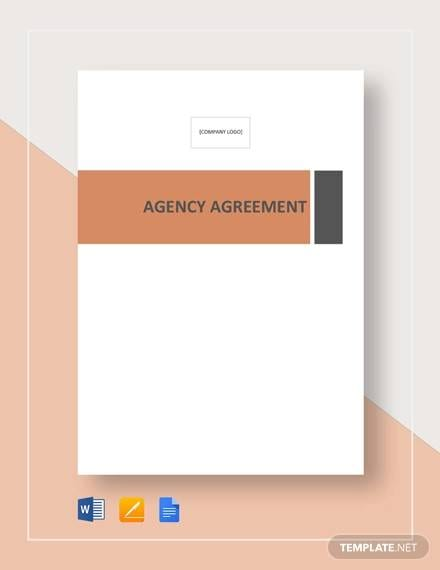 Agency Agreement Template For Business Agency Agreement Template