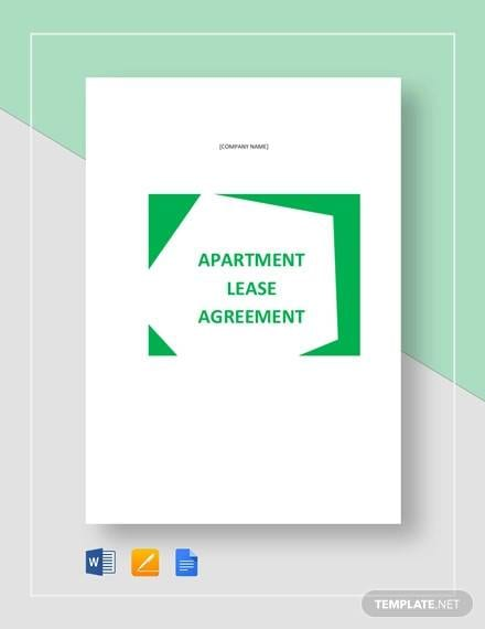 Apartment Lease Agreement Template For Apartment Lease Agreements