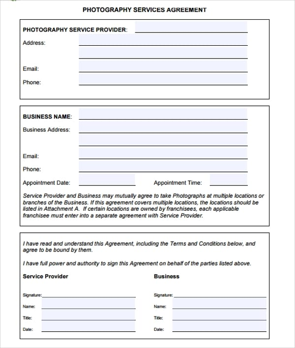 Business Agency Services Agreement For Business Service Agreement Template