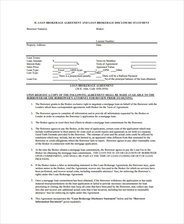 Business Loan Broker Agreement For Business Loan Agreement