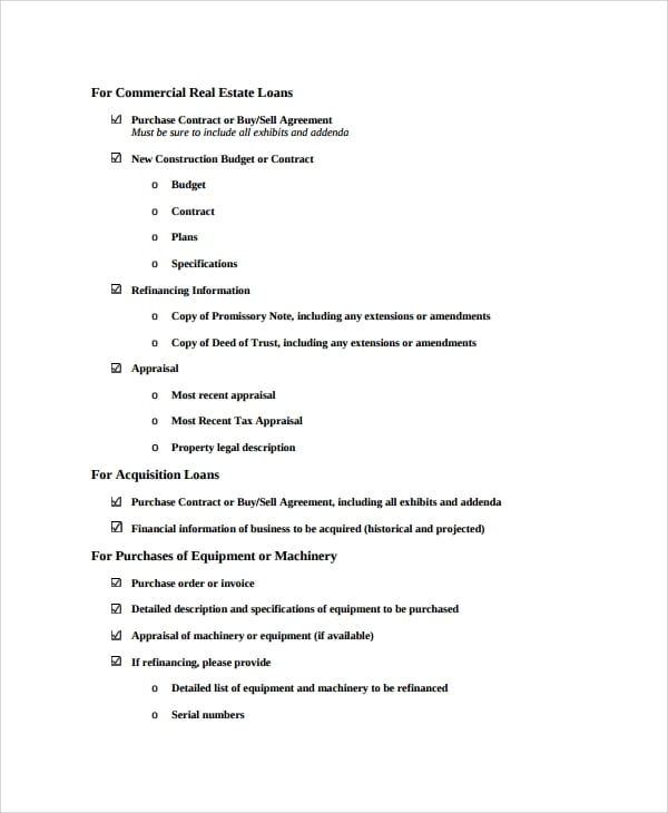 Commercial Loan Purchase Agreement For Commercial Loan Agreement Template