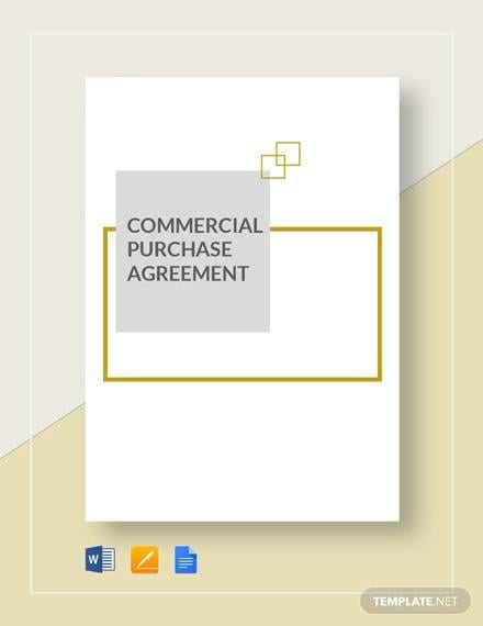 Commercial Purchase Agreement Template1 For Commercial Purchase Agreement