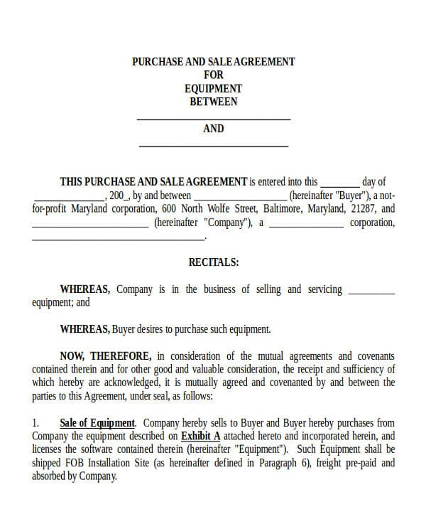 Commercial Truck Purchase Agreement For Commercial Agreement Format