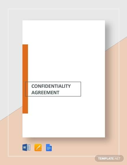 Confidentiality Agreement For Consultants Contractors Template