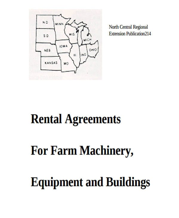Farm Machinery Equipment Lease Agreement3 For Commercial Agreement Format