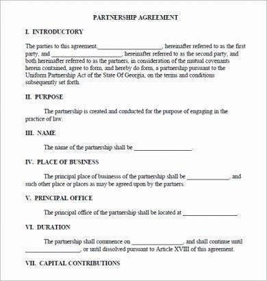 Fillable Real Estate Partnership Agreement For Real Estate Partnership Agreement Templates Pdf