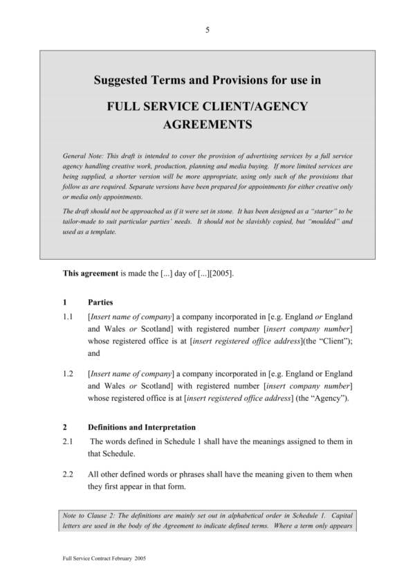 Full Marketing And Advertising Service Agreement 07 For Marketing Services Agreement Template Pdf Word