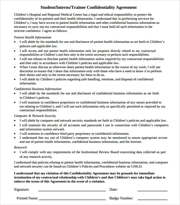 Legal Intern Confidentiality Agreement for Legal Confidentiality Agreement