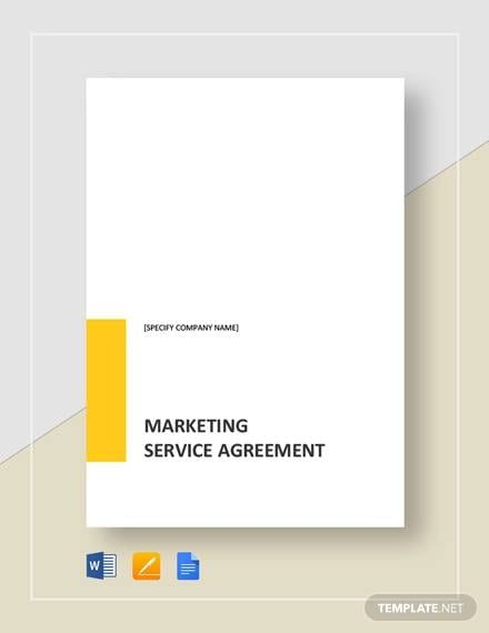 Marketing Services Agreement Template For Marketing Services Agreement Template Pdf Word