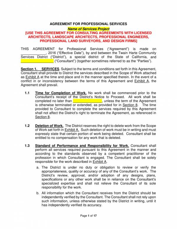 Master Professional Services Agreement Template 01 For Master Professional Services Agreement Pdf