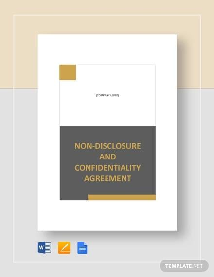 Non disclosure and Confidentiality Agreement Template1 for Business Confidentiality Agreement