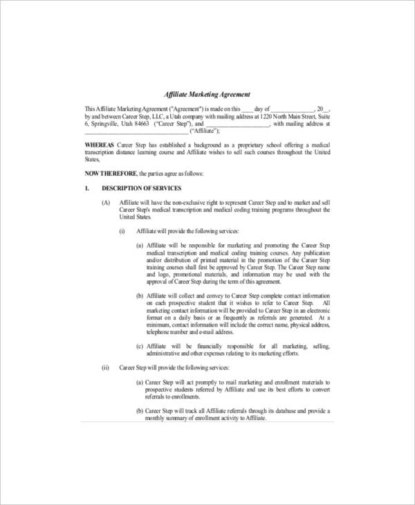 Sales And Marketing Service Agreement Template For Marketing Services Agreement Template Pdf Word