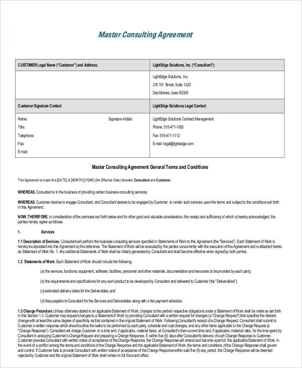 Sample Business Consulting Agreement for Non Disclosure Agreement In Pdf