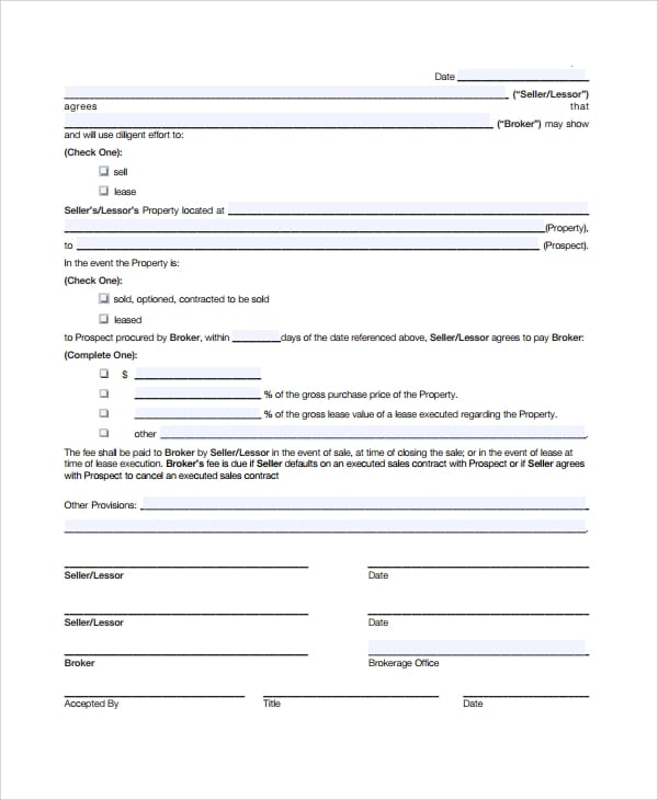 Sample Commission Sales Agreement for Commission Sales Agreement