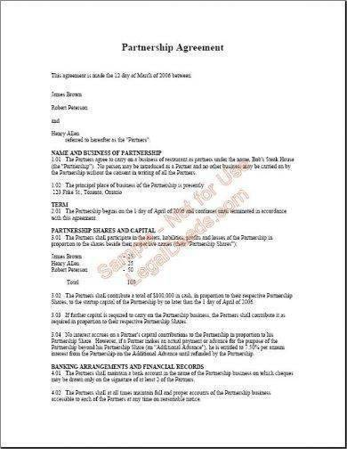 Sample Real Estate Agreement for Real Estate Partnership Agreement Templates Pdf