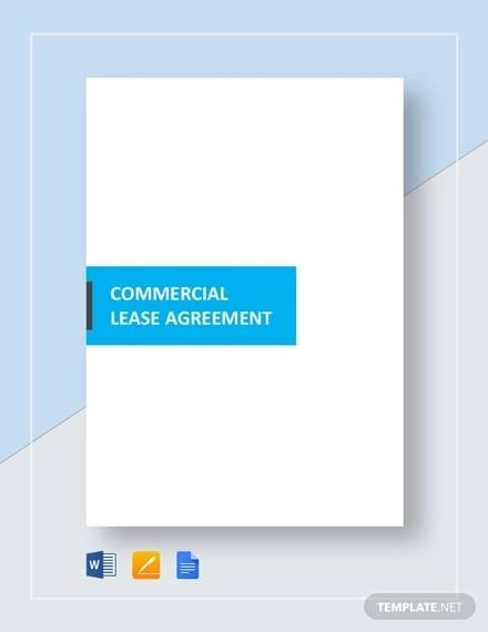 Simple Commercial Lease Agreement Template for Commercial Lease Agreement In Pdf